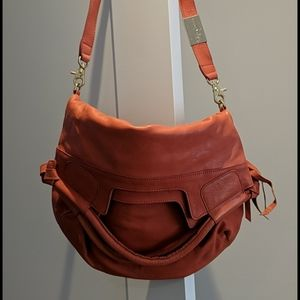 Foley + Corinna Leather Coral Lady Tote